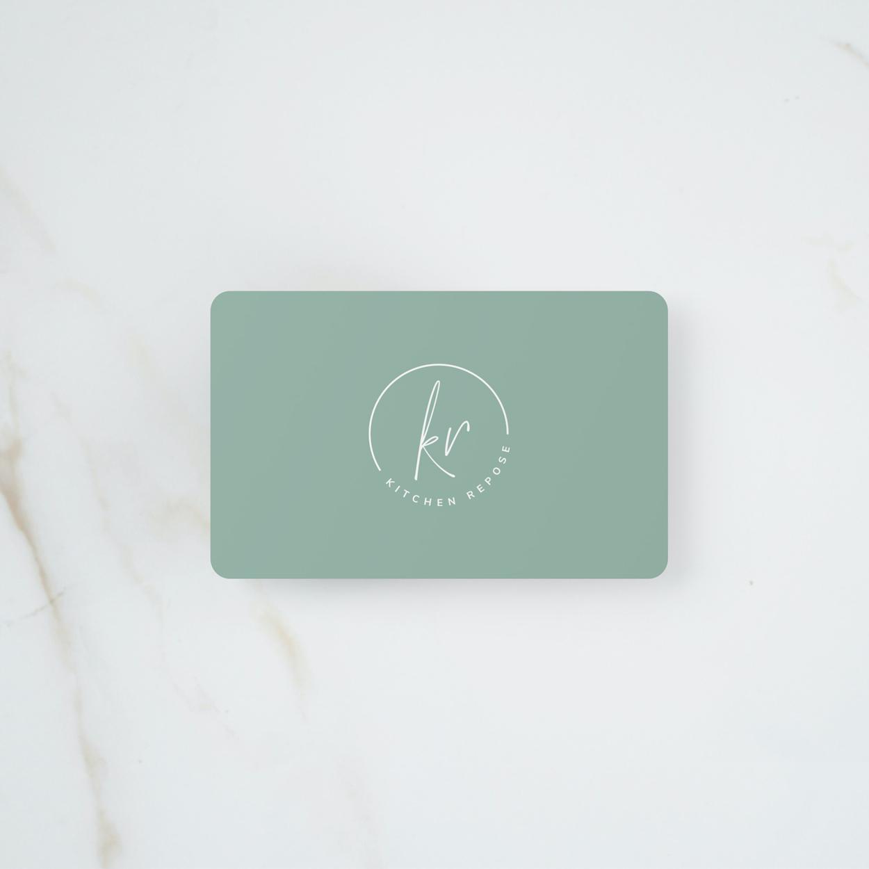 KR gift card mockup
